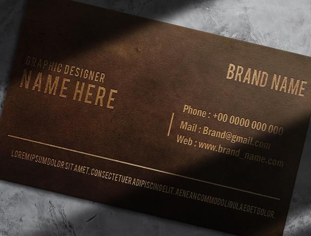 Luxury leather embossed paper mockup