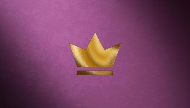 Luxury letterpress logo mockup on purple velvet background