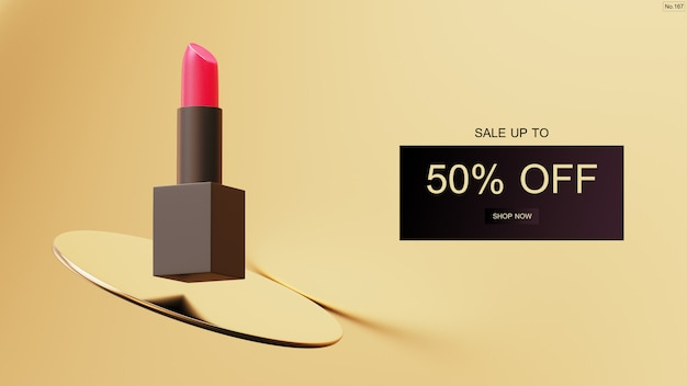Luxury lipstick sale banner