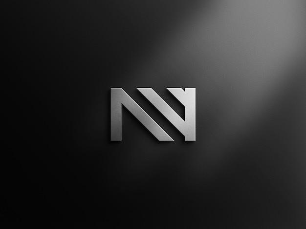 Luxury logo mockup on black surface