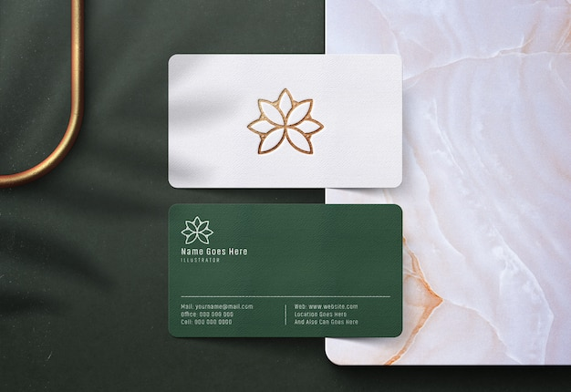 Luxury logo mockup on business card
