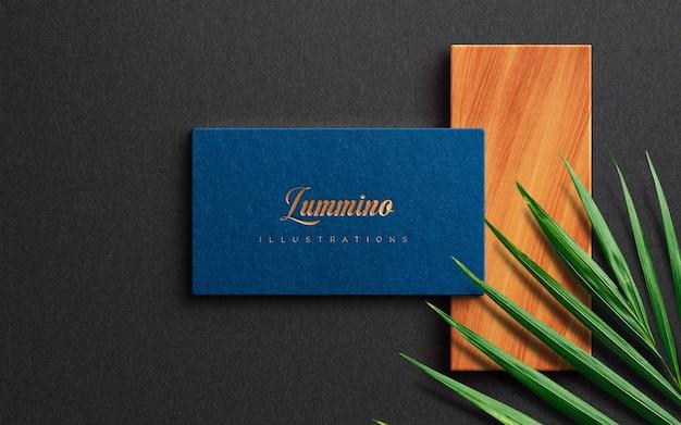 Luxury logo mockup on business card