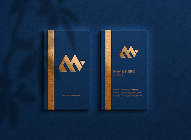 Luxury logo mockup on business cards