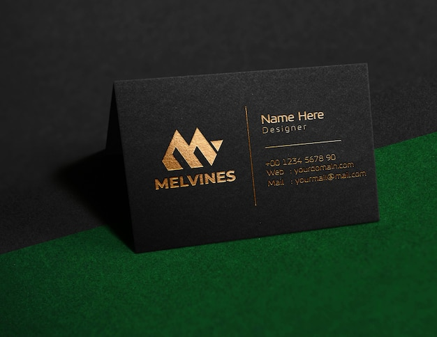 Luxury logo mockup on card
