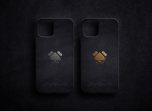 Luxury logo mockup on case