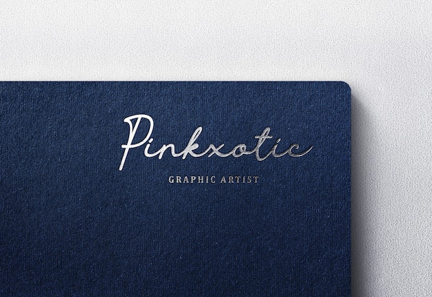 Luxury logo mockup on dark craft paper
