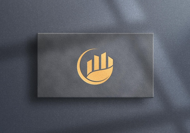 Luxury logo mockup design for business