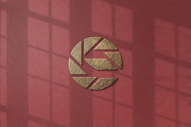 고립 된 럭셔리 로고 모형 디자인