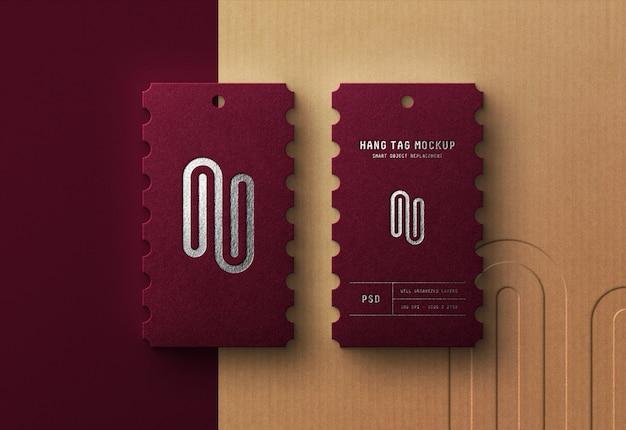 Luxury logo mockup on hang tag