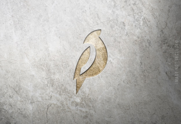 Luxury logo mockup on marble texture