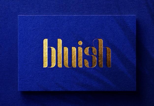 Роскошный логотип макет на визитке