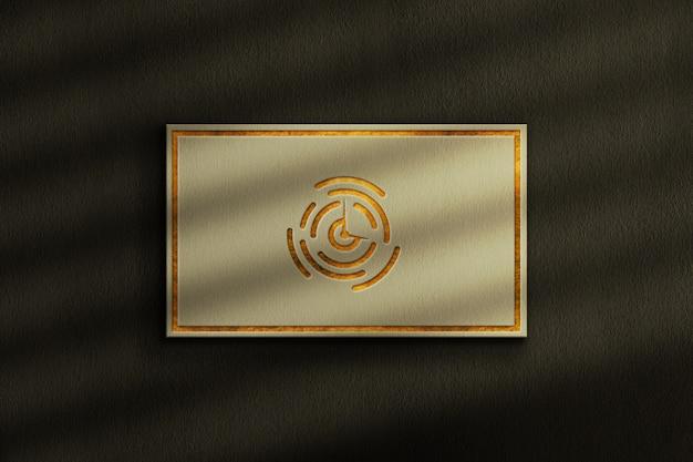 Роскошный макет логотипа на визитной карточке