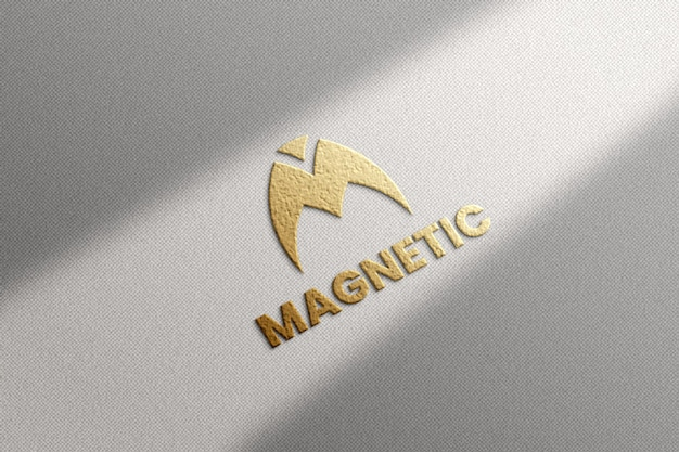 Роскошный макет логотипа на текстурированном фоне