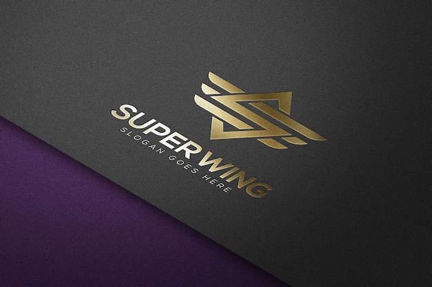 Luxury logo mockup template