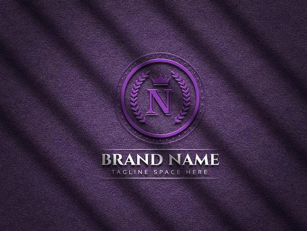 Luxury logo mockup on texture background