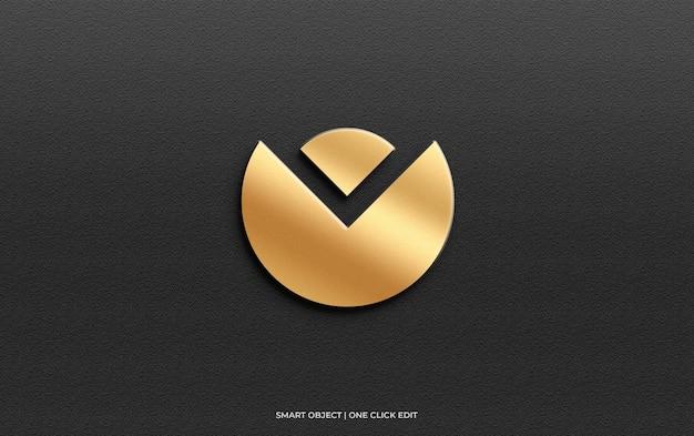 Luxury logo mockup on wall