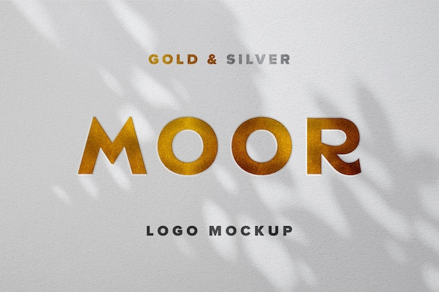 Luxury logo mockup on white paper