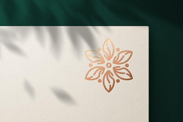 Luxury logo mockup with debossed effect premium psd Premium Psd