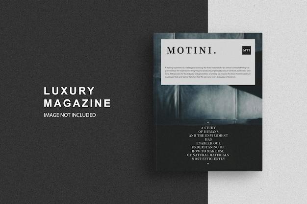 Luxury magazine design mockup