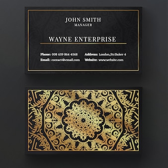 Luxury mandala business card Free Psd