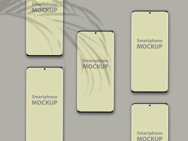 Роскошный дизайн макета мобильного телефона изолирован