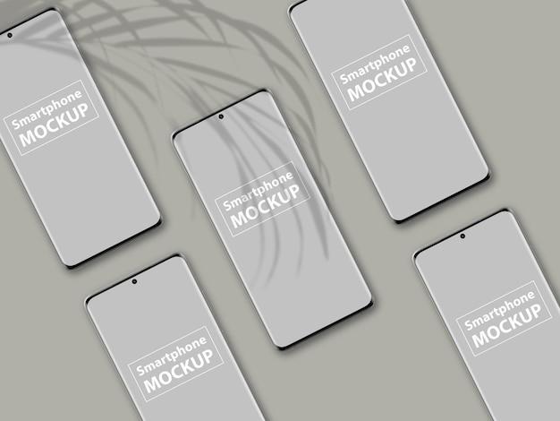 Роскошный дизайн макета экрана мобильного телефона изолирован