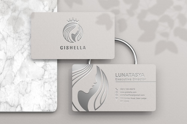 Luxury and modern business card mockup