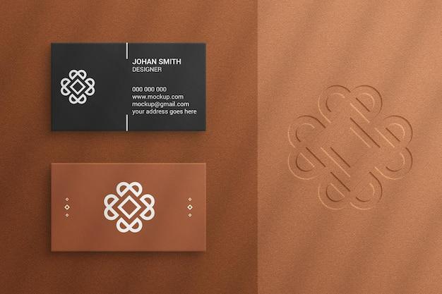 Роскошный современный макет визитки