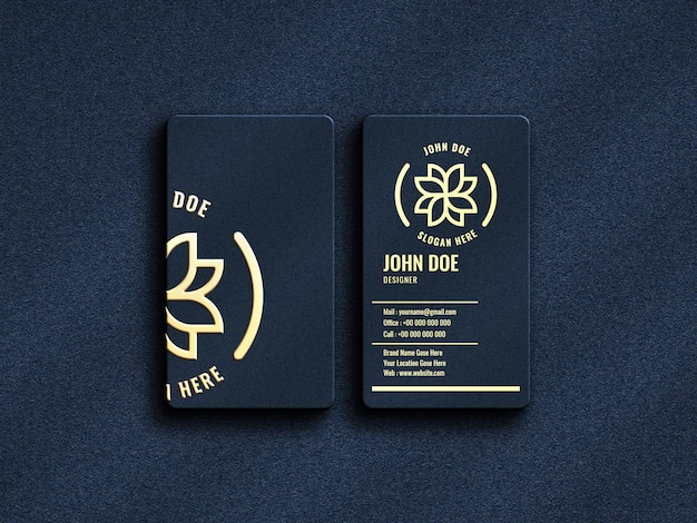Luxury and modern logo mockup on vertical business card