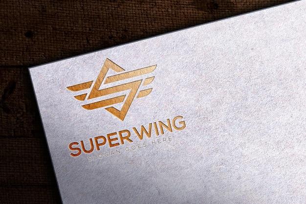 Luxury paper logo mockup template