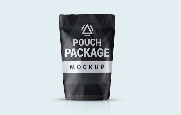 高級ポーチパッケージモックアップデザイン