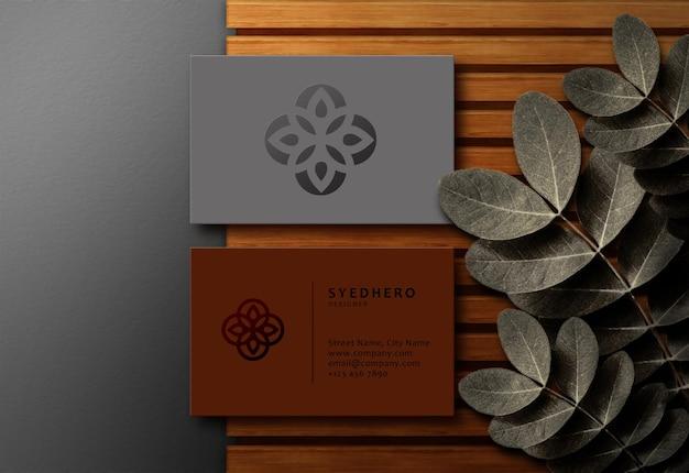 Роскошный премиум современный редактируемый макет визитки