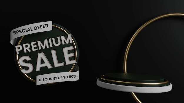 고급 프리미엄 판매 배지 연단