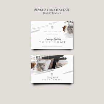 Роскошный шаблон визитной карточки в аренду