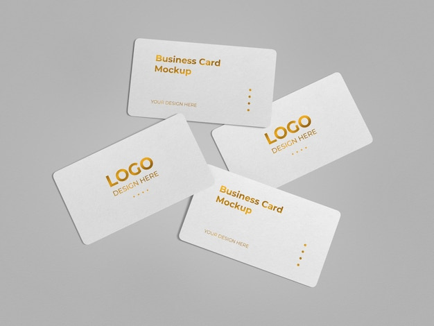 Роскошный дизайн макета визитной карточки с закругленными углами