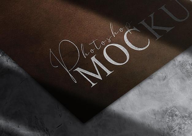 Luxury silver embossed paper mockup