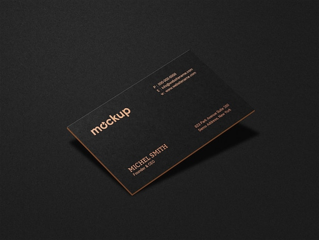 Luxury single side business card mockup