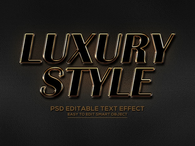 Luxury style text effect