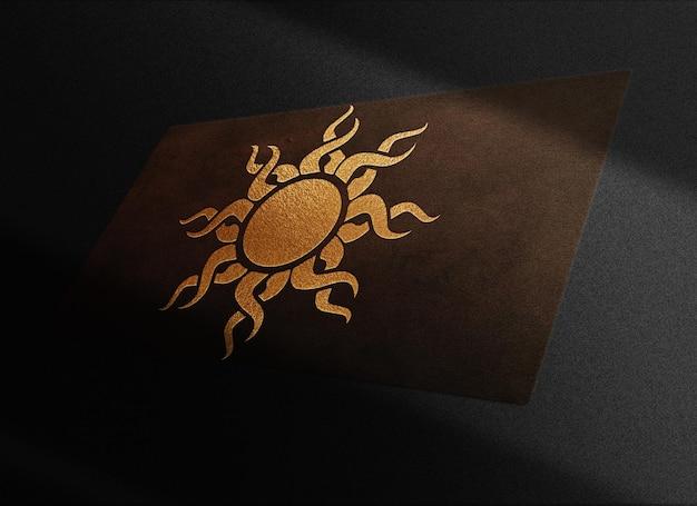 럭셔리 태양 가죽 양각 명함 프로토 타입