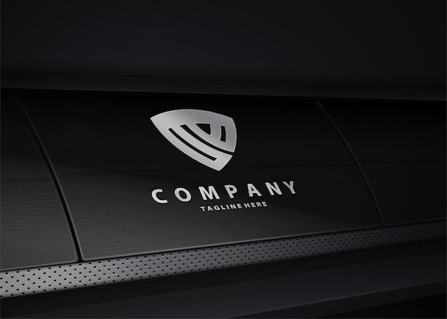 Luxury tech logo mockup