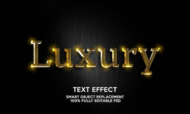 Luxury text effect template