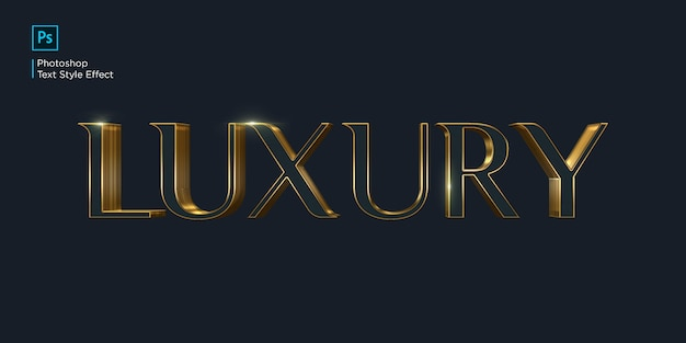 Luxury text effect