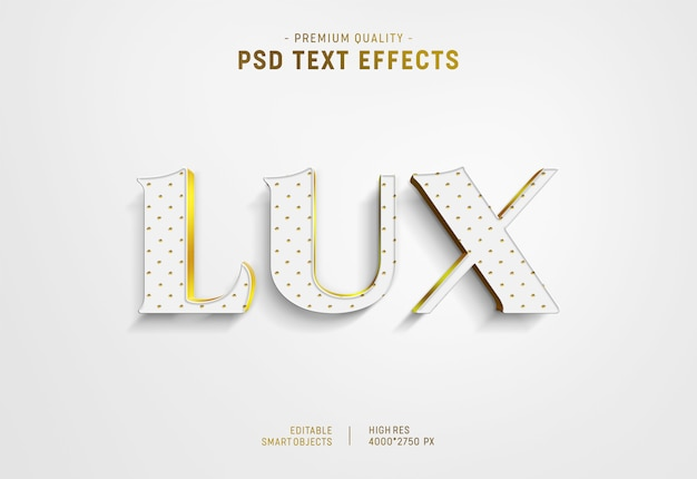 Luxury text style effect