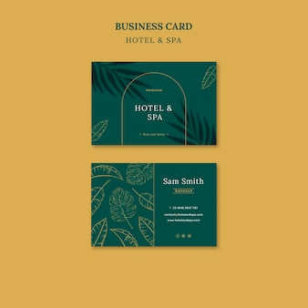 Luxury vacation rental business card template design