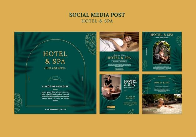 럭셔리 휴가 임대 소셜 미디어 게시물 템플릿 디자인