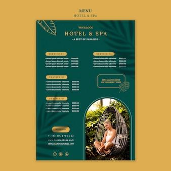 Luxury vacation rentalmenu template design