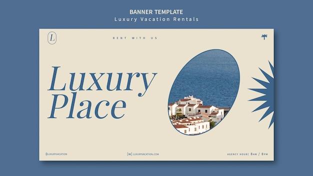 Modello di progettazione banner per affitti vacanze di lusso