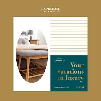 Luxury vacation rentals flyer template