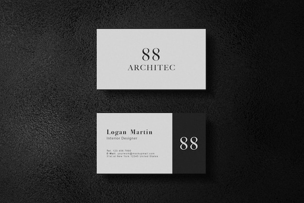 Luxury white business card mockup