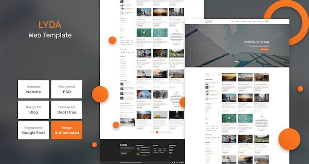 Веб-шаблон блога lyda